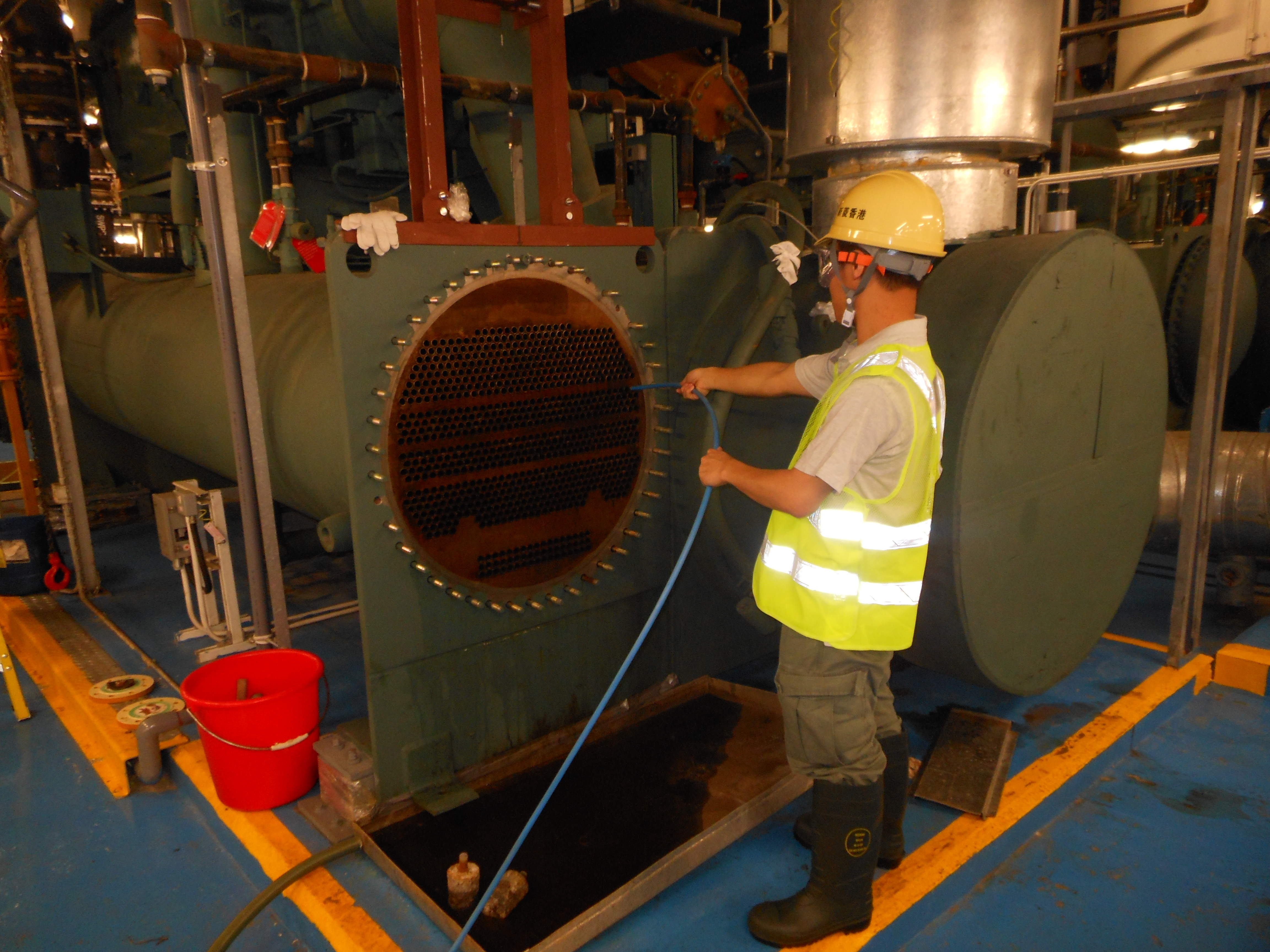 Carryout Cleaning of Tubes and Cooling Tower to Maintain High COP of Plant Operation